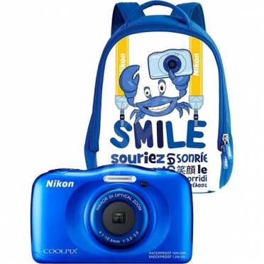 Nikon Coolpix W100 Blue Backpack kit Φωτογραφική Μηχανή (VQA011K001)