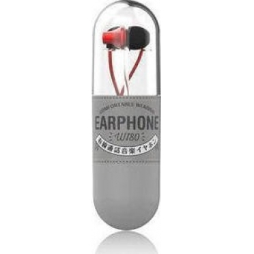 WK Wi80 Fashion Earphones with Microphone Red