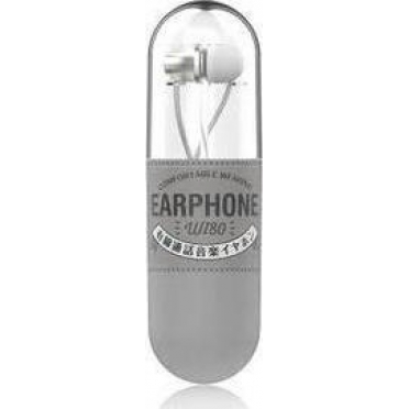 WK Wi80 Fashion Earphones with Microphone White