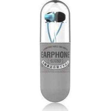 WK Wi80 Fashion Earphones with Microphone Blue