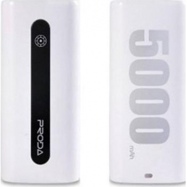 Remax Proda E5 5000mAh Power Bank White (6954851218500)