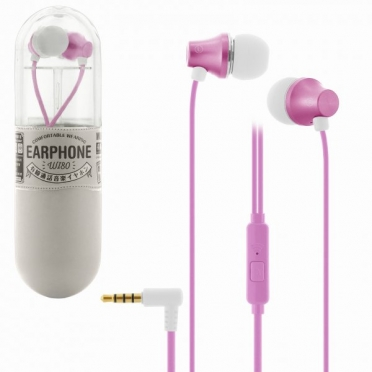 WK Wi80 Fashion Earphones with Microphone Pink