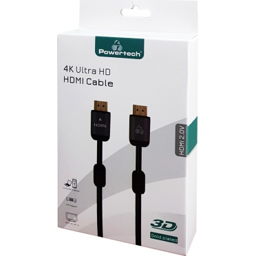Powertech HDMI 2.0 Cable HDMI male - HDMI male 2m (CAB-H096)
