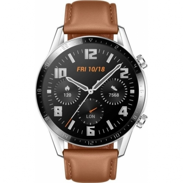 Huawei Watch GT 2 46mm Classic Edition/ Brown Leather Strap Smartwatch